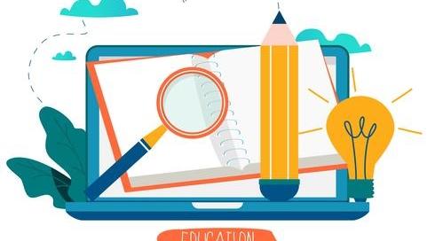 education-online-training-courses-distance-education-vector-illustration